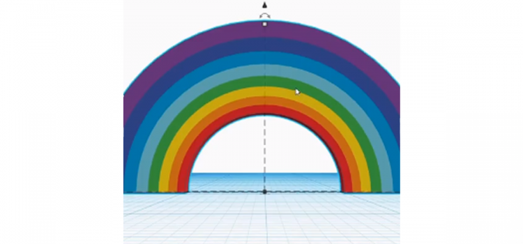Learn how to create a 3D digital rainbow, using a free, online 3D modelling package
