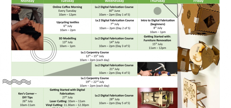 What's on at FabLab Coventry – July 2021