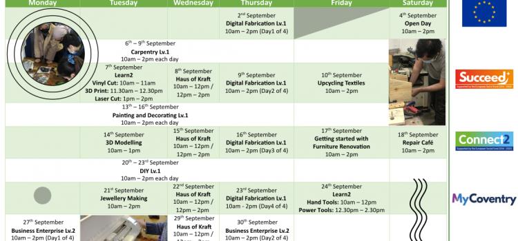 What's on – September 2021